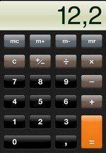 Kalkulačka s číslom 12,2