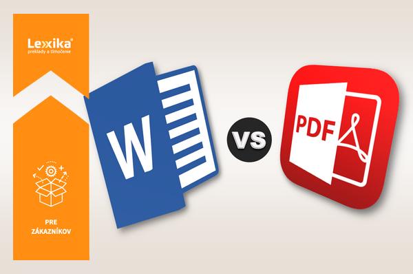 Ikona MS Word a Ikona PDF