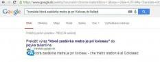 Automatický preklad priamo vo vyhľadávaní Google