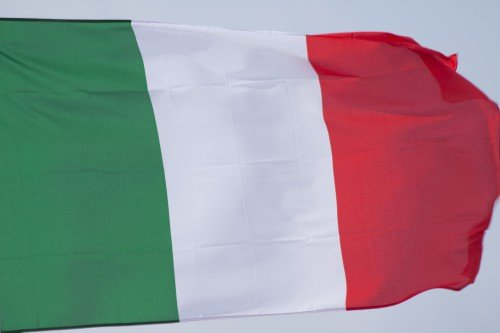 Vlajúca vlajka Talianska