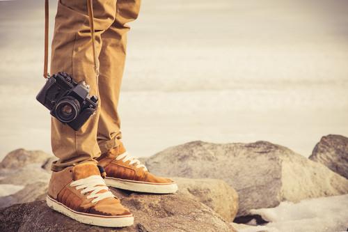 Hipster s fotoaparátom