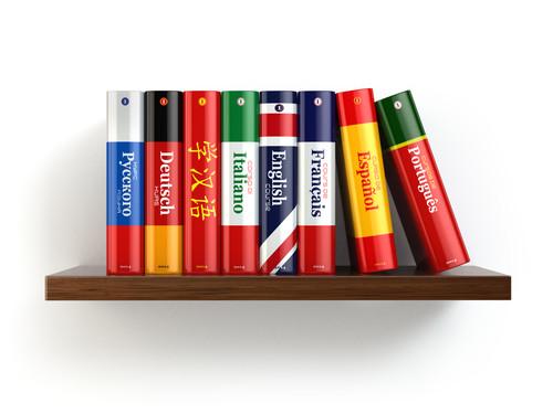 Slovníky na poličke
