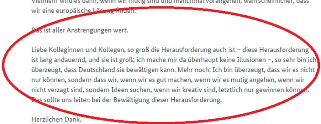 Zdrojový text prekladu prejavu Angely Merkel