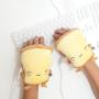 Žlté ohrievače na ruky