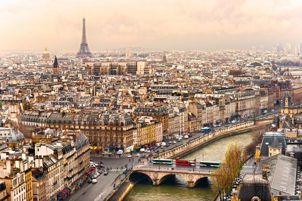 Pohľad na Paríž s Eiffelovou vežou