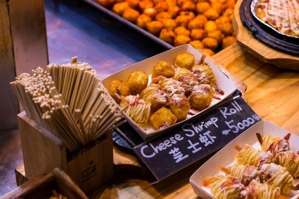 Korejske jedlo - syrové krevety