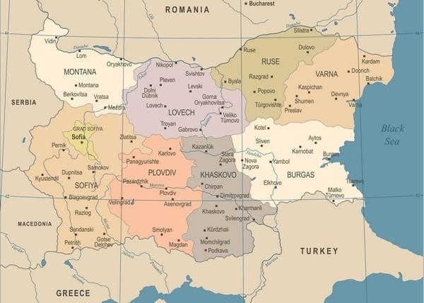 Mapa_Bulharska