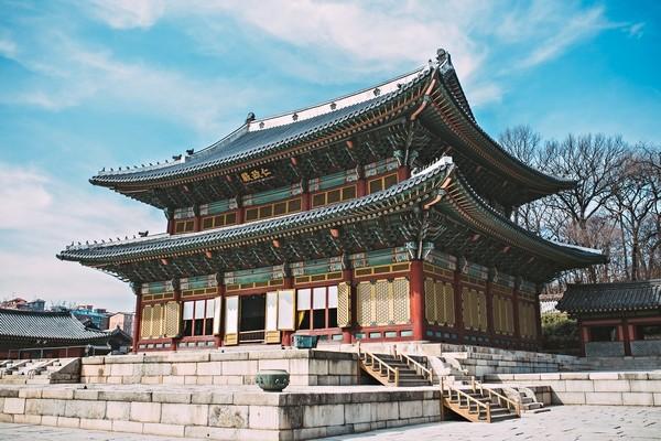 Palac Gyeongbokgung v Korei_