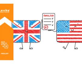 Britská a americká angličtina, usmievajúce sa vlajky