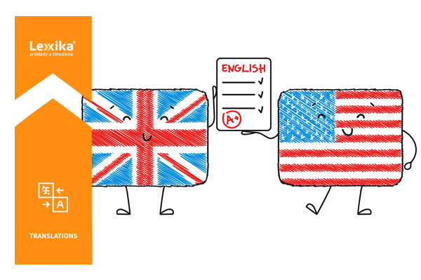 British vs. american english, flags