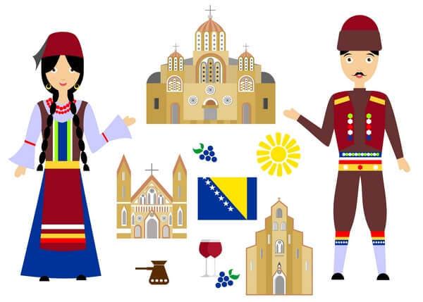 Bosna a Hercegovina charakteristické znaky