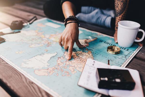 Plánovanie cesty po anglicky hovoriacej krajine