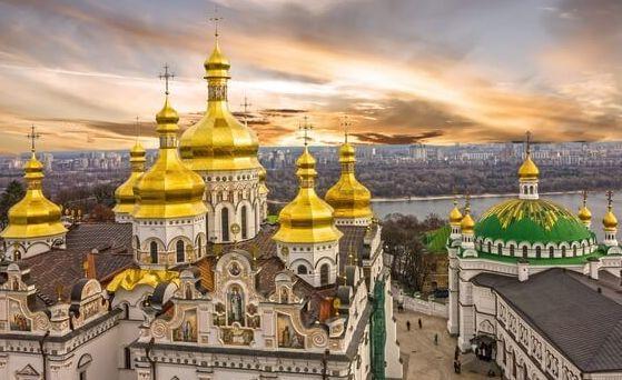 Kupoly Kyjev pohľad zhora