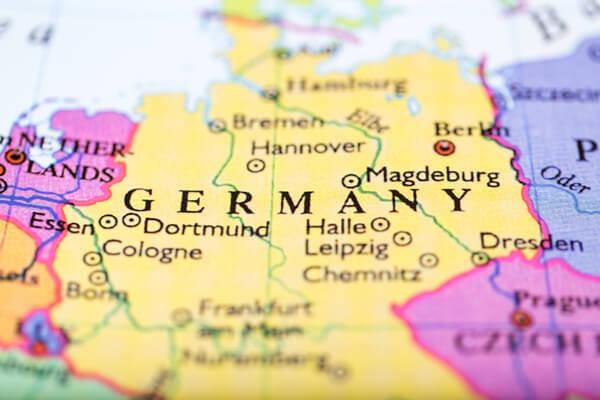 Mapa Nemecka