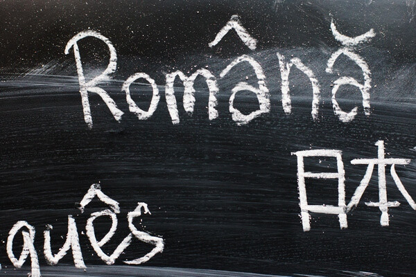 Rumunsky jazyk napísaný kriedou