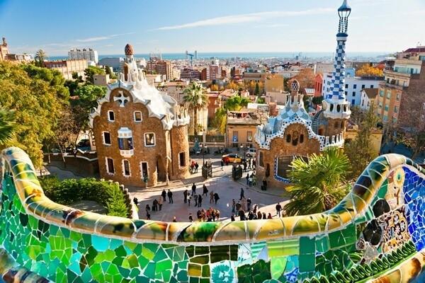 Barcelona Španielsko typická architektúra
