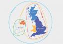 Mapa rozdelenia Britských ostrovov