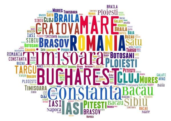 mapa Bulharska, názvy miest