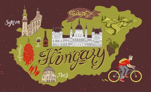 Maďarsko, mapa krajiny