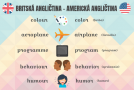 rozdiely v písaní americkej a britskej angličtiny