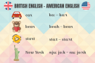 pronunciation differences in british and american english