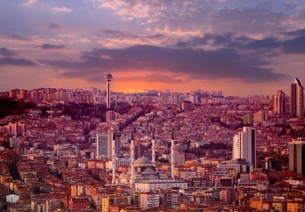 Ankara pri západe slnka