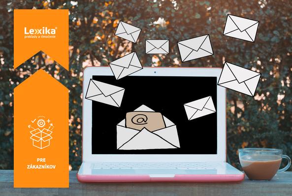 Emaily letiace z počítača