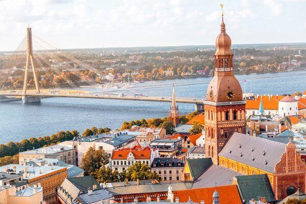Riga a rieka Daugava