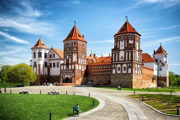 hrad v meste Mir