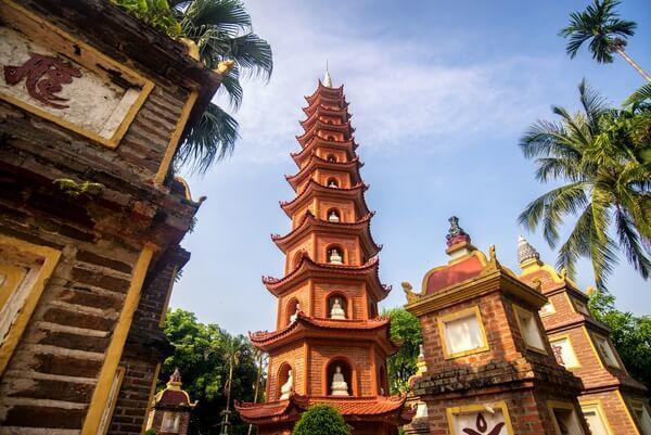 Pagoda v Hanoji
