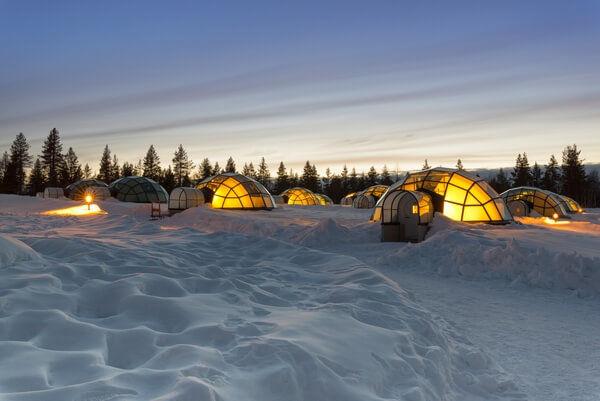 Hotel s iglu vo Fínsku