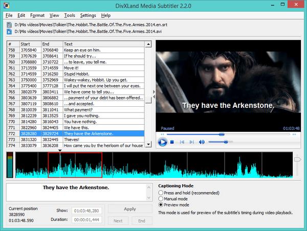 DivXLand Media Subtitler screenshot