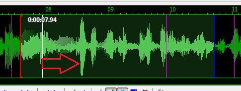 Aegisub_zvukové vlny v zvukovej stope