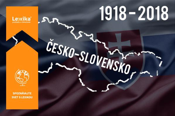 Vlajky a spojená mapa česka a Slovenska