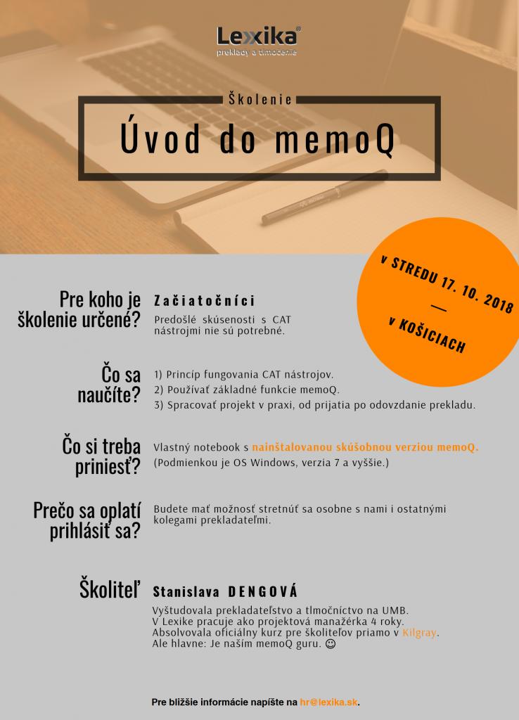 Poter memoQ školenie v Košiciach