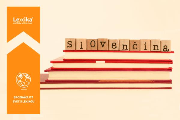 slovo slovenčina vyskladané z písmeniek uložených na knihách