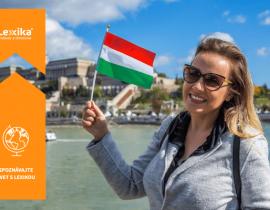 žena držiaca maďarskú vlajku