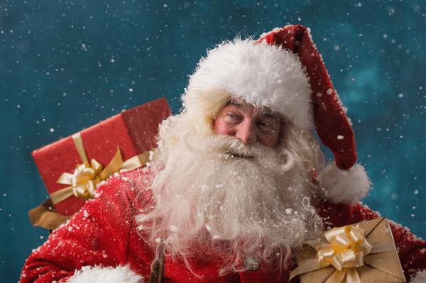 Santa Claus nesie darčeky