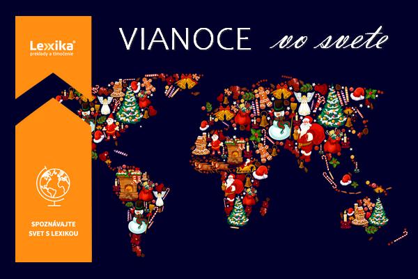 Mapa sveta s vianočnými obrázkami