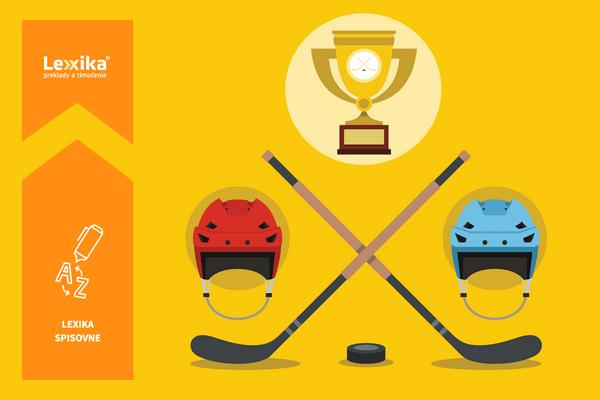 hokejky, hokejové prilby a víťazný pohár