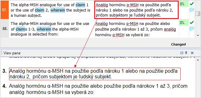 možnosti náhľadu v prekladateľskom programe memoQ