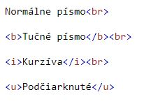 formátovanie textu v HTML