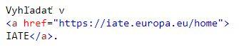 vloženie hyperlinku do HTML kódu