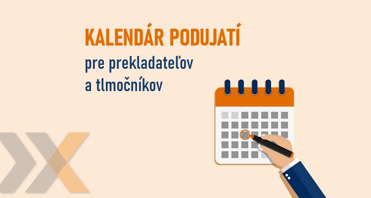 Kalendár podujatí pre prekladateľov a tlmočníkov
