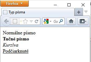 ukážka nadpisov v HTML kóde