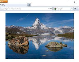 ukážka obrázka v HTML