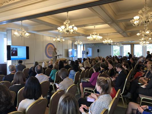 záber z plnej miestnosti počas prednášky na MCE 2019