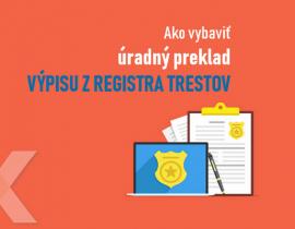 výpis z registra trestov úradný preklad