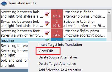 úprava termínu v prekladateľských výsledkoch