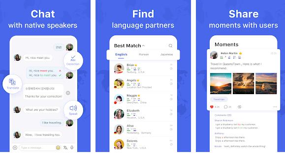 Aplikácia na učenie sa jazykov Hello Talk